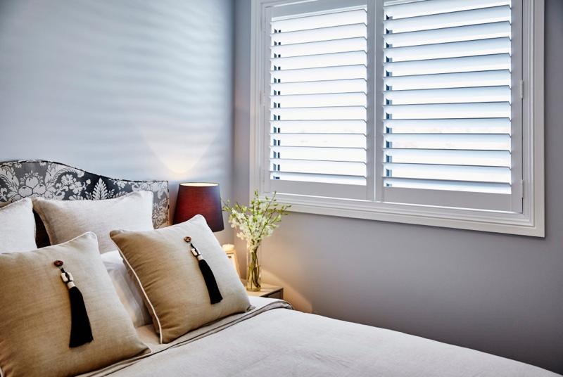 Bedroom Shutter Windows Pillows