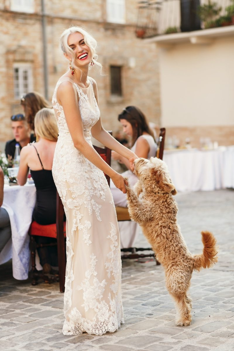 Bride Dancing with Dog