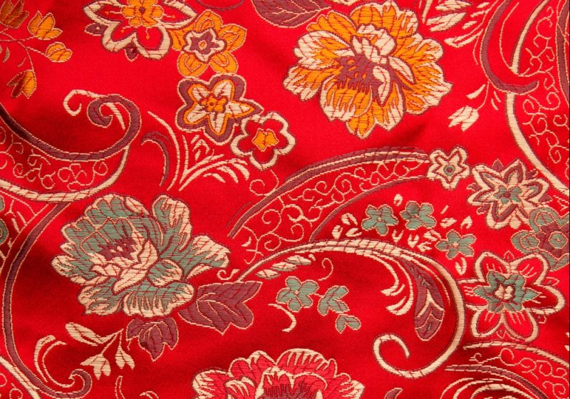 Chinese Floral Silk
