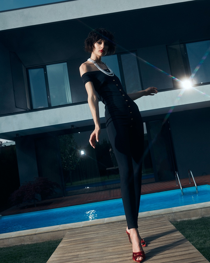 Claudia Tomozei Models Summer Fashion in Cosmopolitan Romania