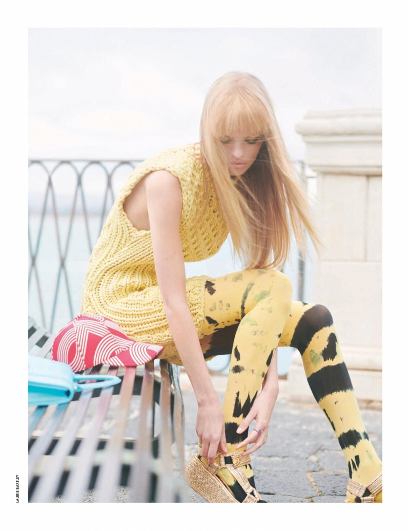 Daphne Groeneveld Wears Colorful Outfits for ELLE Italy
