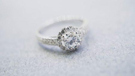 Diamond Ring Grey Backdrop