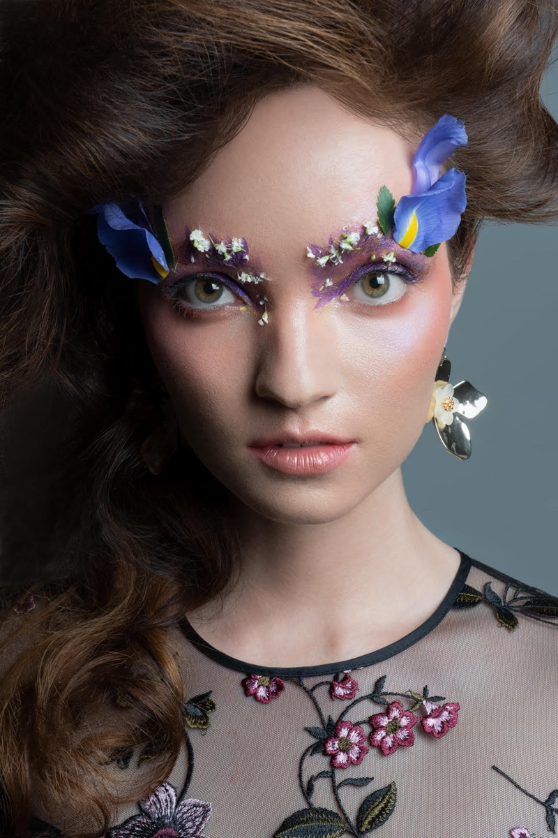 Shoshanna Floral Mesh Gown and Earrings stylist's own. Photo: Jeff Tse