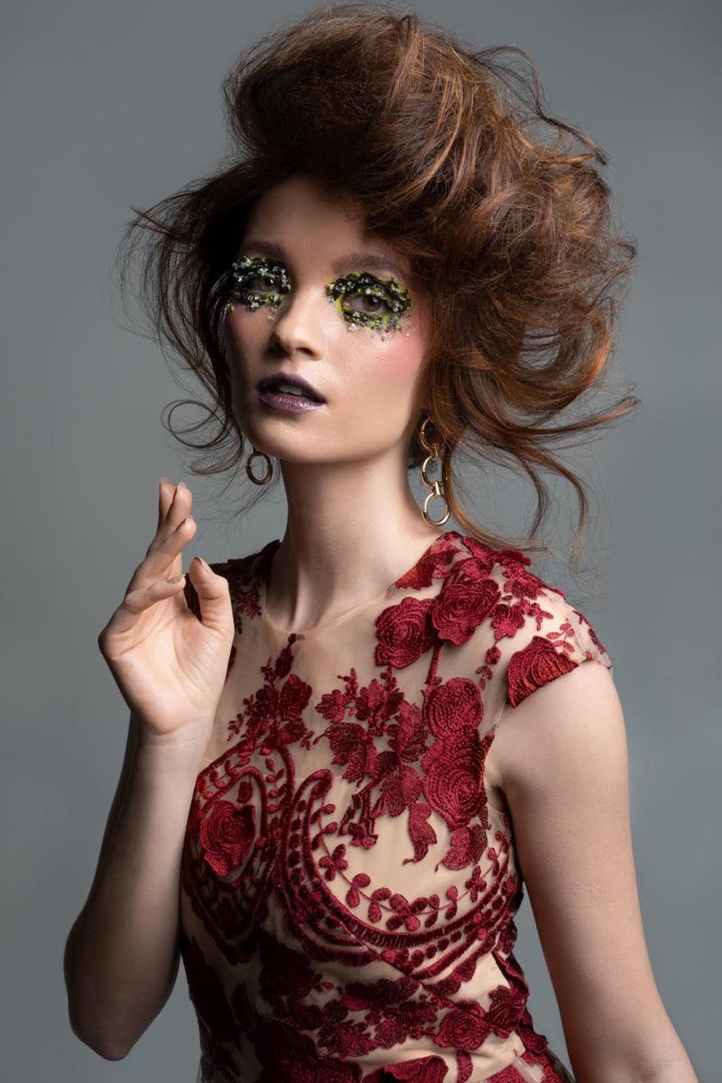 Marchesa Notte Mena Dress and Earrings stylist's own. Photo: Jeff Tse