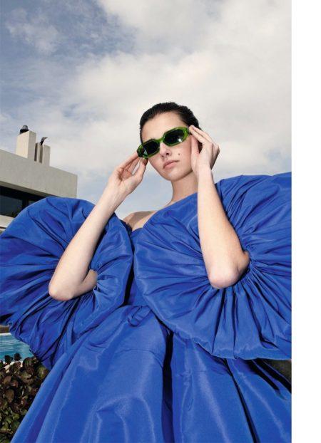 Eloise Cloes Embraces Warm Weather Looks for Harper's Bazaar Germany
