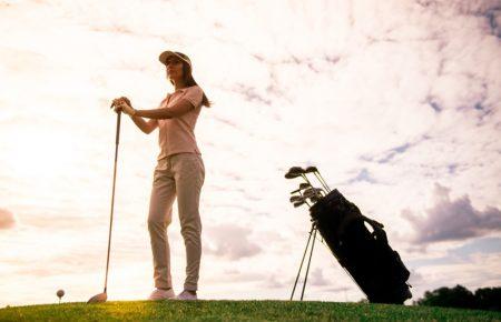 Female Golfer Course Golf Club