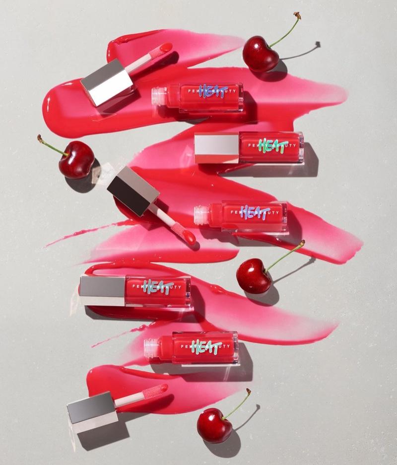 A look at Fenty Beauty Gloss Bomb Heat in Hot Cherry.