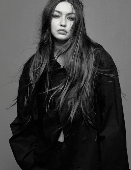 Gigi Hadid Poses in Black & White for i-D
