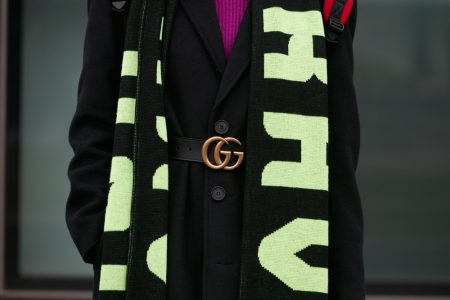 Gucci Belt Scarf Black Outfit