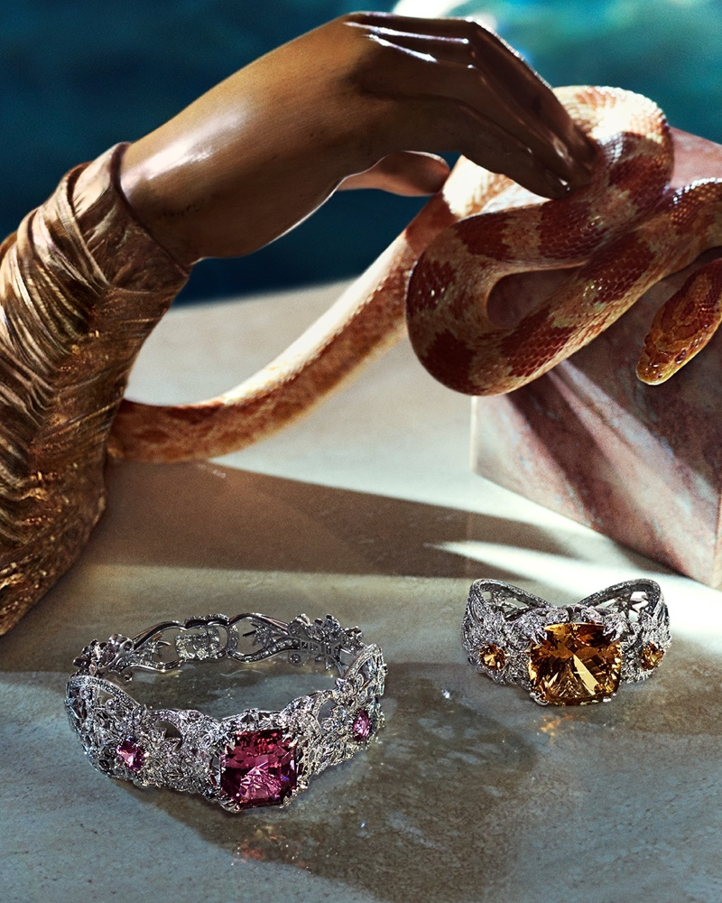Colorful gems stand out in Gucci High Jewelry 2021 collection.