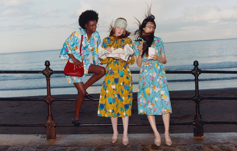 An image from Gucci's Towards the Sun summer 2021 campaign.
