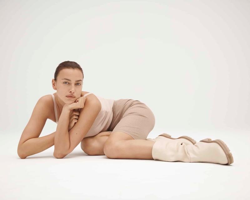 Irina Shayk x Tamara Mellon campaign.