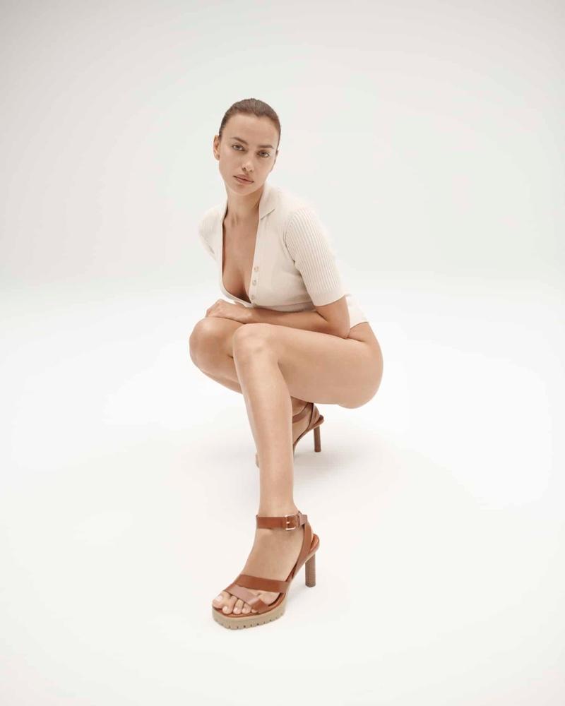 Irina Shayk x Tamara Mellon Sun Valley sandal.