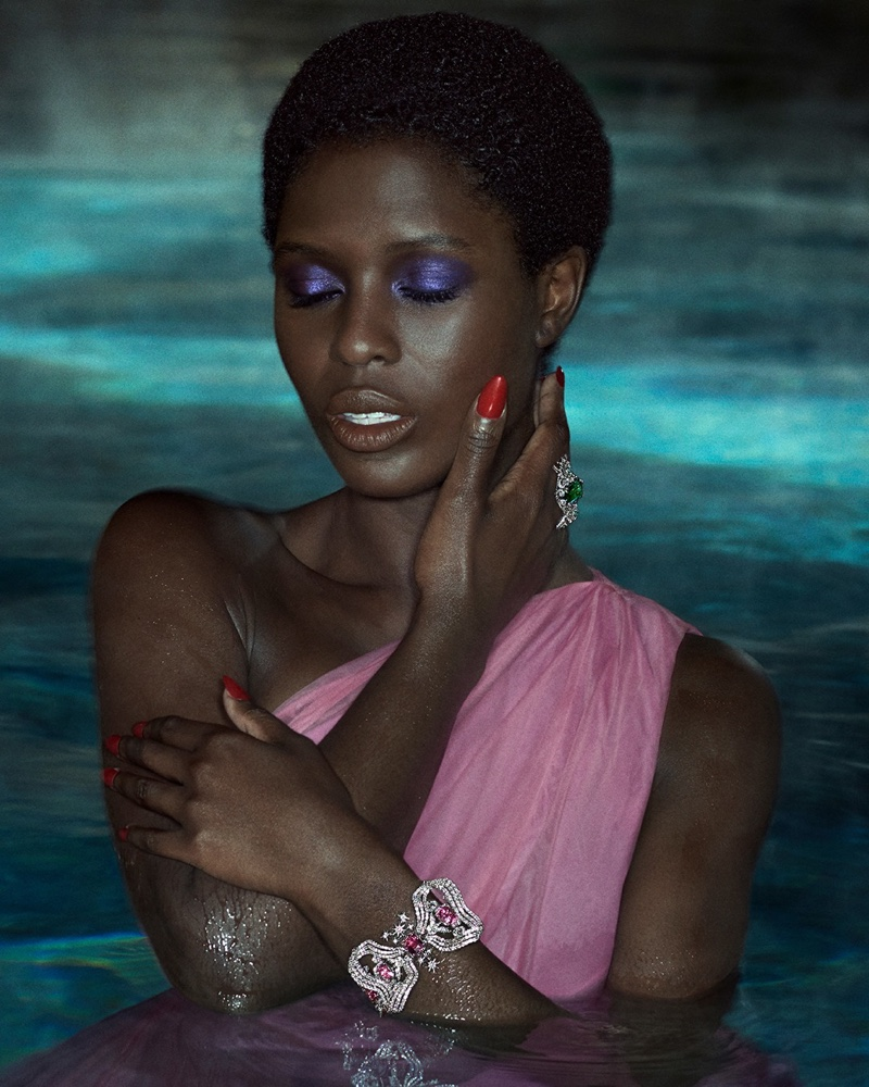 Jodie Turner-Smith stars in Gucci High Jewelry 2021 campaign.