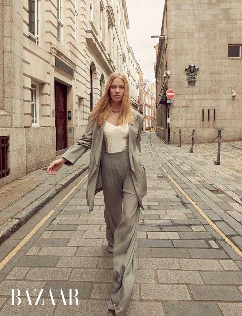 Karina Kozionova Poses in Elegant Looks for Harper's Bazaar Hong Kong