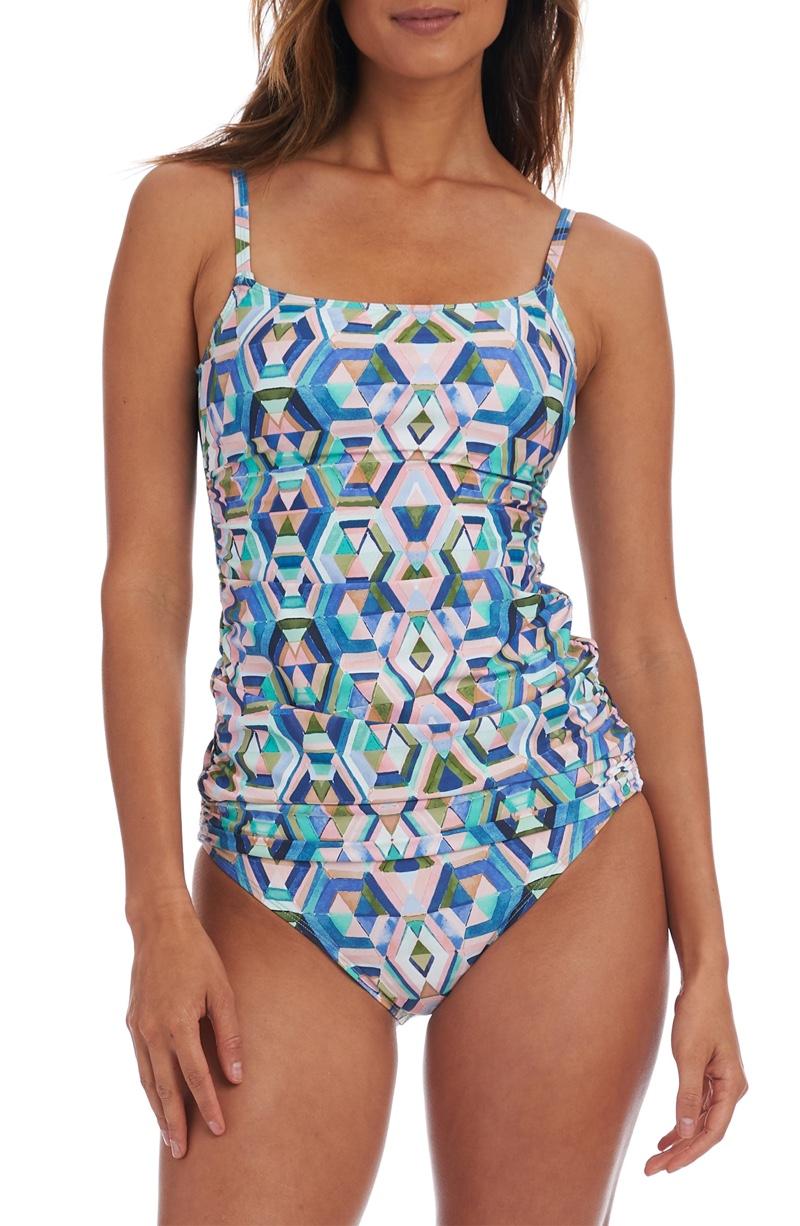La Blanca Riviera Underwire Tankini Swim Top $94