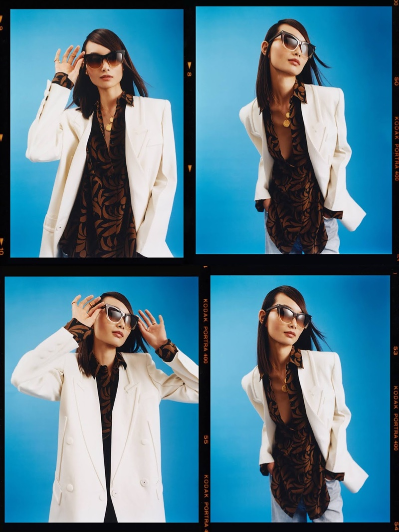 Ling Chen Poses in Getaway Fashions for PORTER Edit