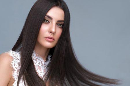 Long Dark Hair Beauty Lace Top