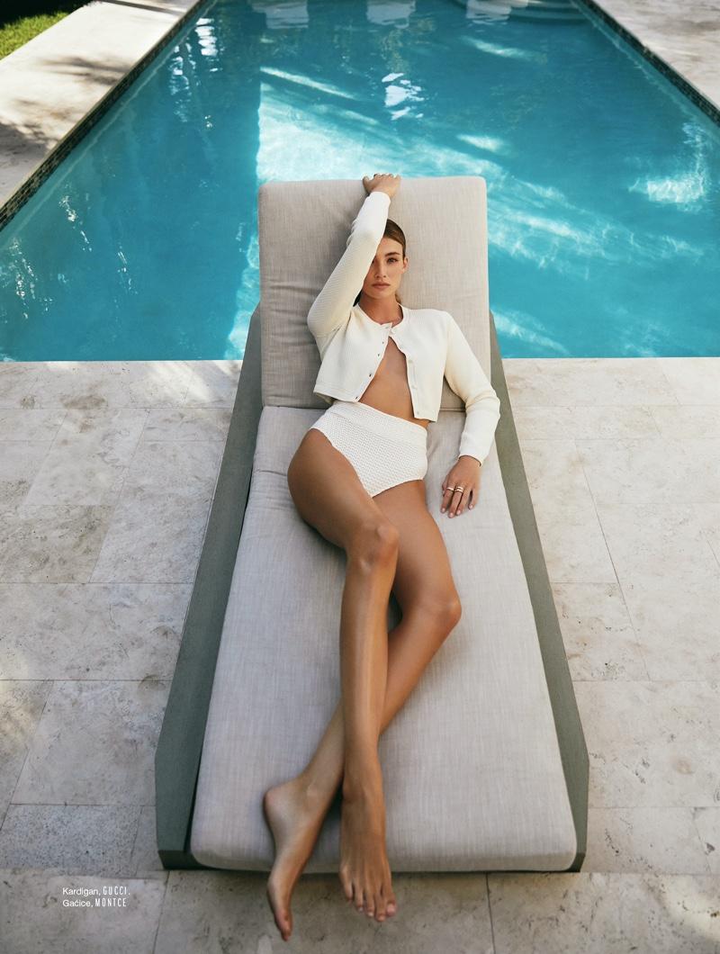 Lorena Rae Wears Swim Season Looks for ELLE Croatia