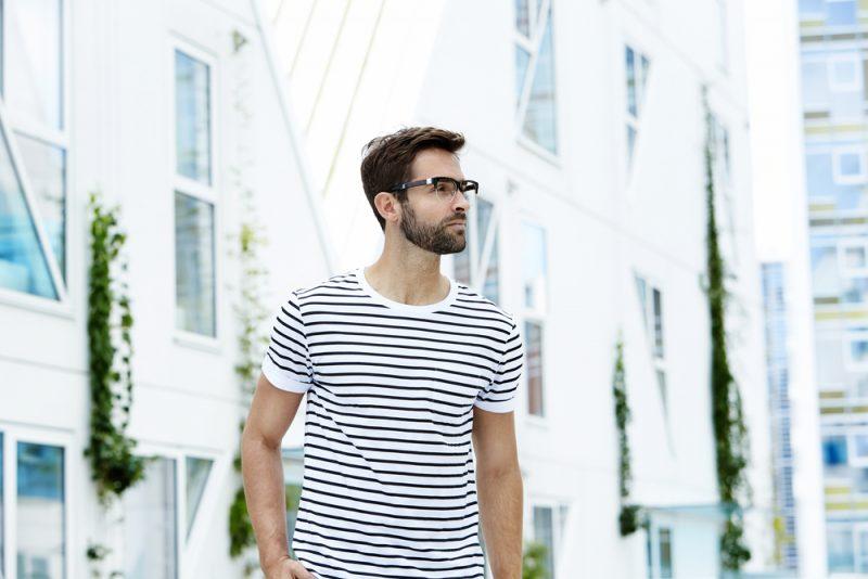 Male Model Striped Shirt
