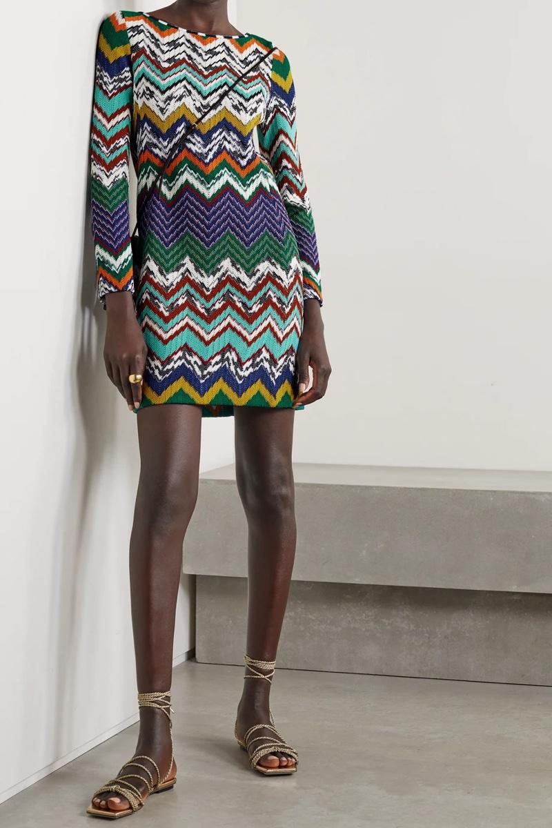 Missoni Crochet-Knit Cotton-Blend Mini Dress $1,930