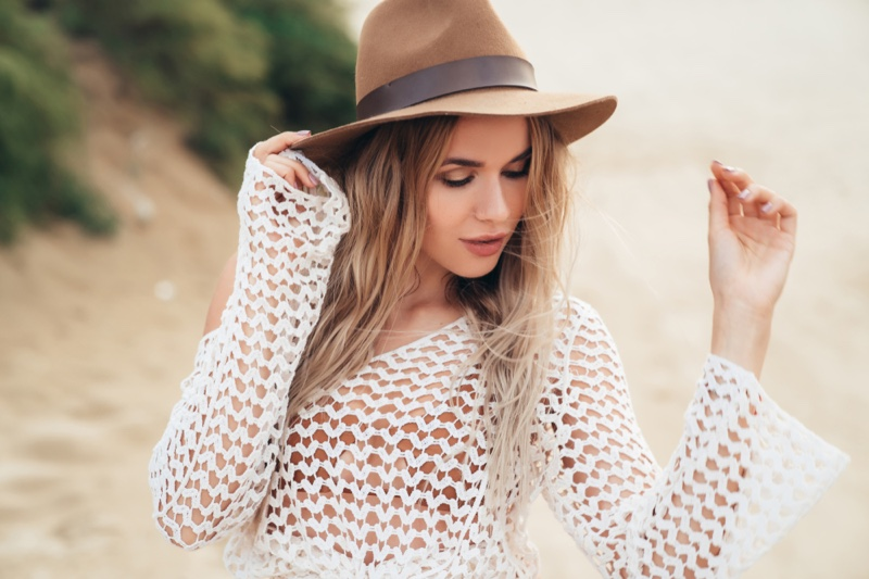 Model Crochet Coverup Clothing Beach