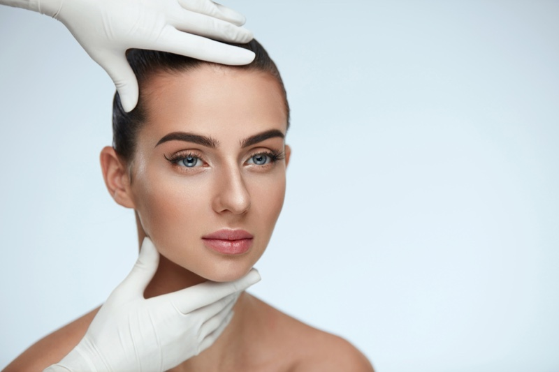 Model Face Beauty Gloves Plastic Surgery