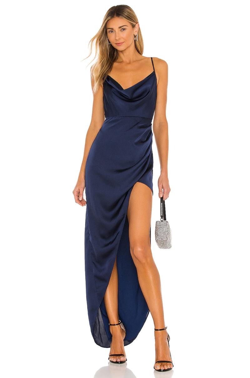 NBD Shelby Cowl Neck Slip Dress $228