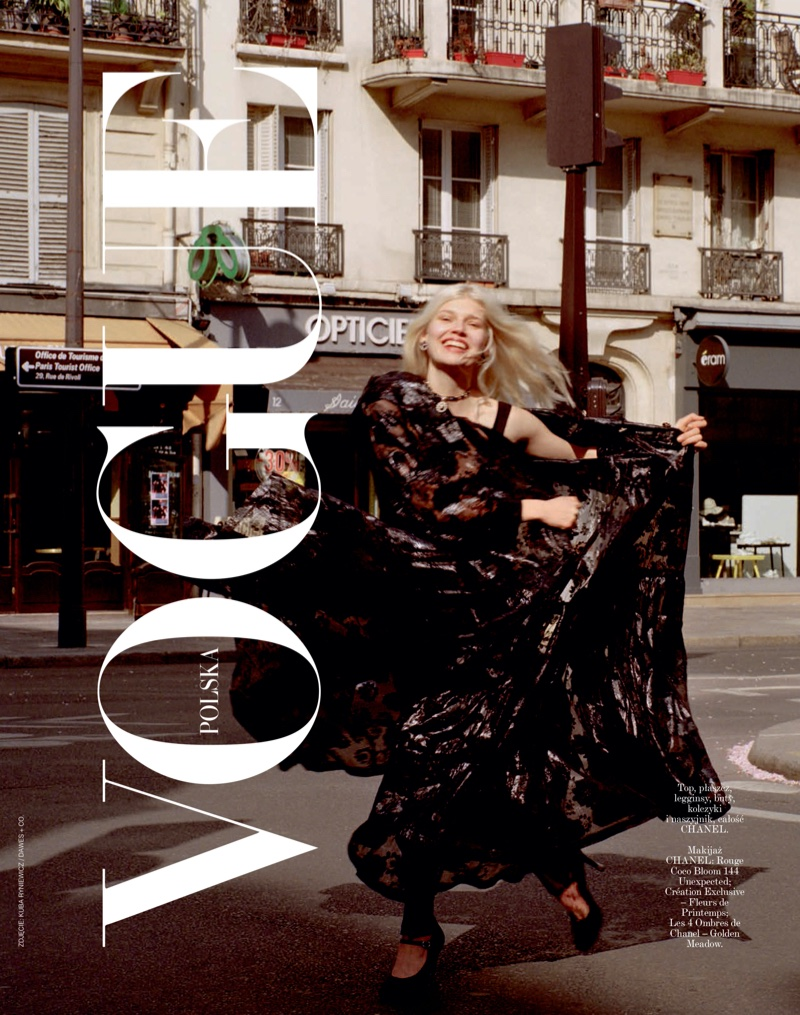 Ola Rudnicka Looks Chic in Chanel for Vogue Poland