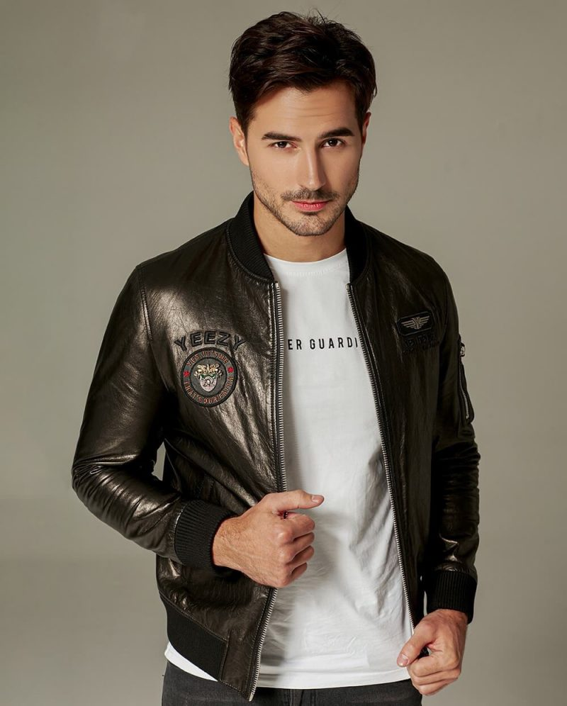 PalaLeather Classic Embroidered Vegetable Tanned Baseball Jacket