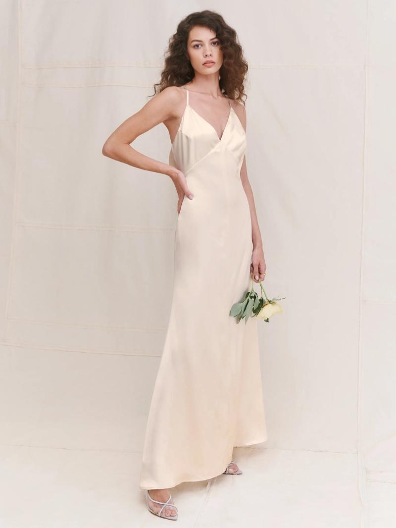 Reformation Sky Silk Slip Dress $648