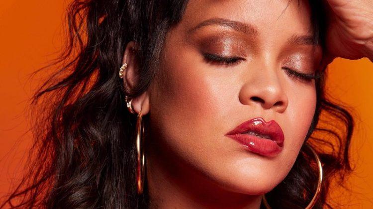 Fenty Beauty Gloss Bomb Heat worn by Rihanna.