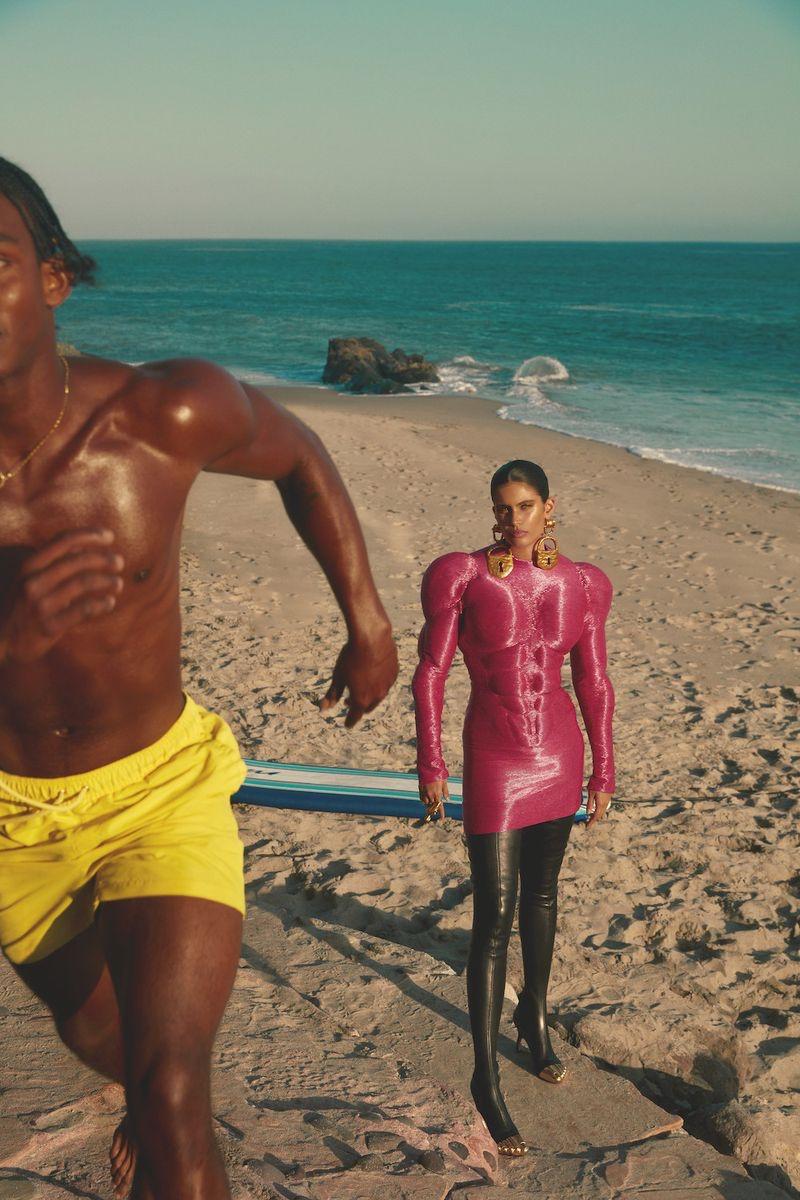 Sara Sampaio Models Statement Beach Looks for Harper's Bazaar Greece