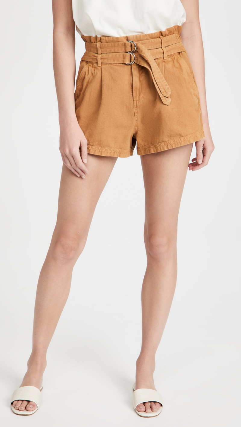 Sea Evelina Belted Shorts in Clay $225