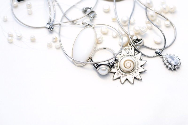 Silver Jewelry Necklaces Table Pendants