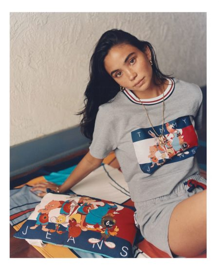Christina Nadin stars in Space Jam: A New Legacy x Tommy Jeans campaign.