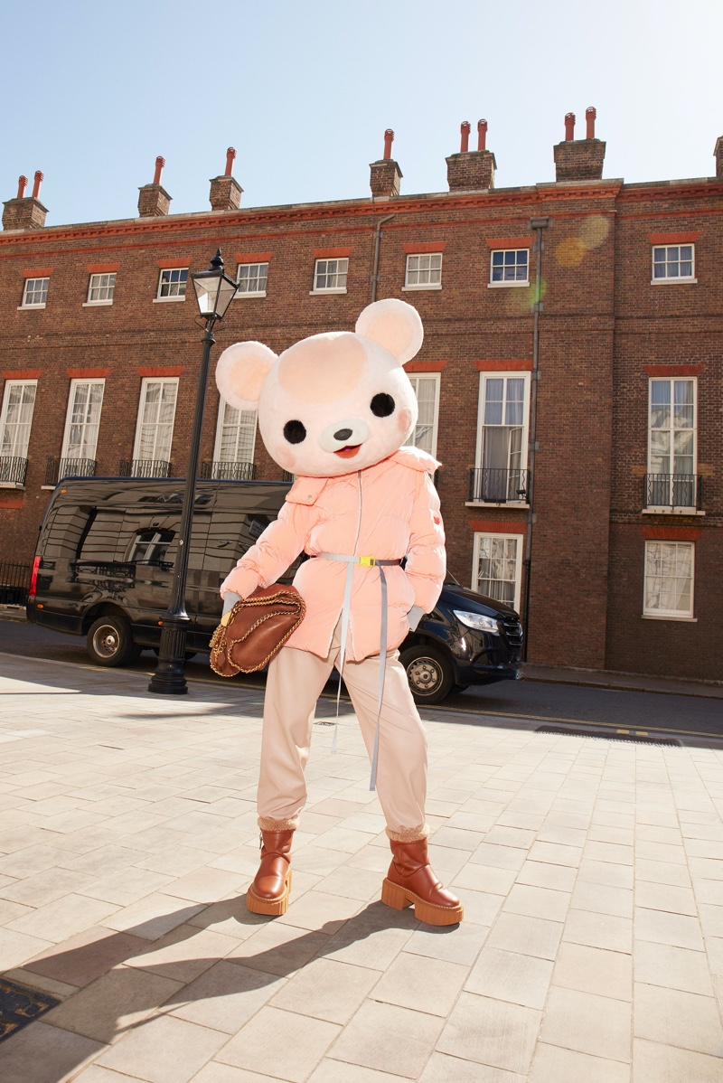 Models pose as animals in Stella McCartney fall 2021 campaign.