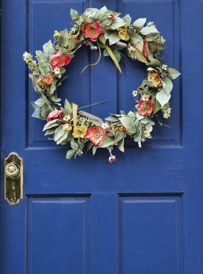 Summer Wreath Door Blue Decor