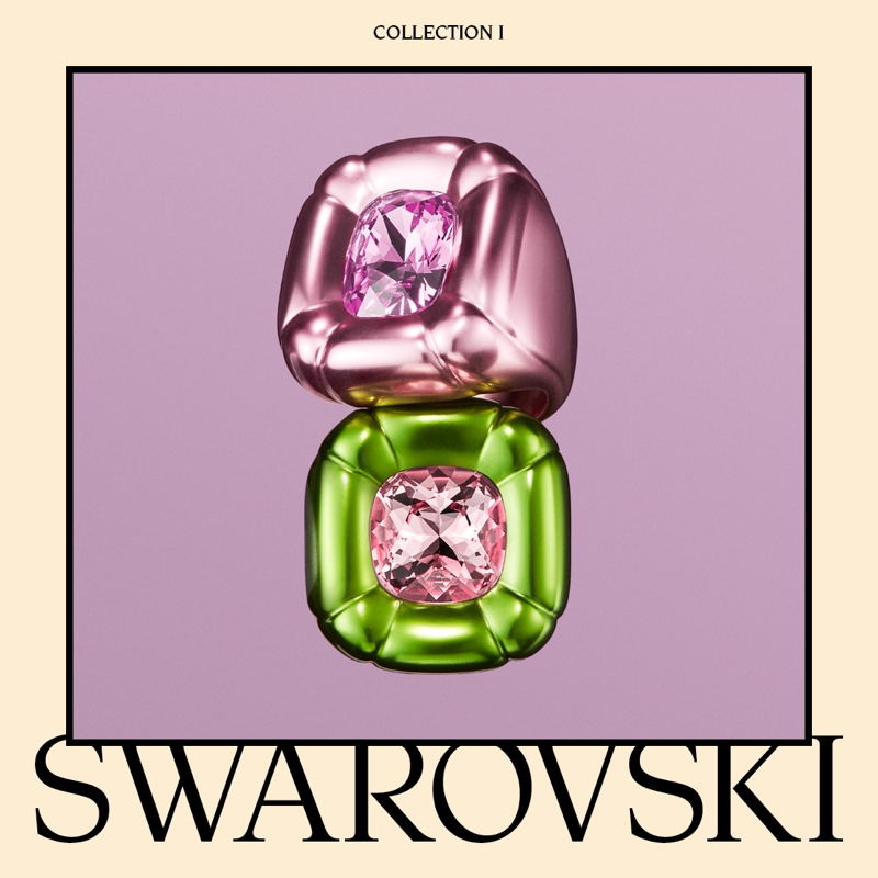 Swarovski Collection I featuring Dulcis cocktail rings.