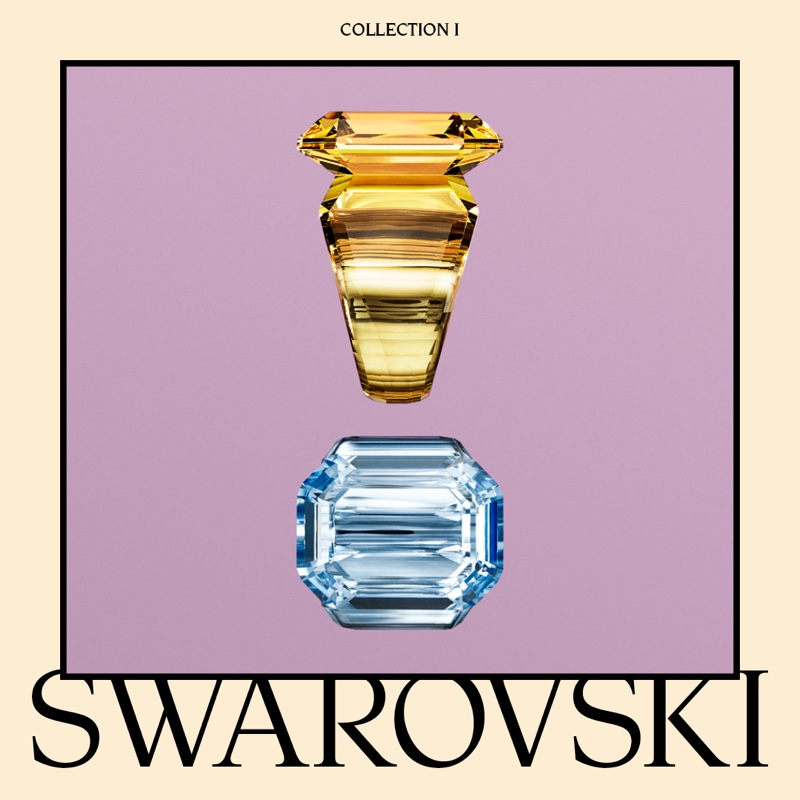 Swarovski Collection I featuring Lucent cocktail rings.