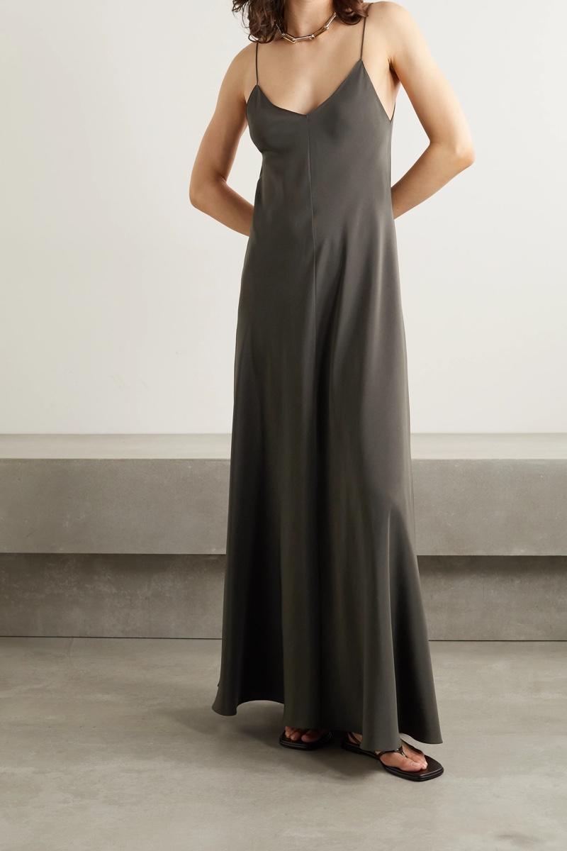 The Row Edi Silk Crepe Chine Maxi Dress $2,350