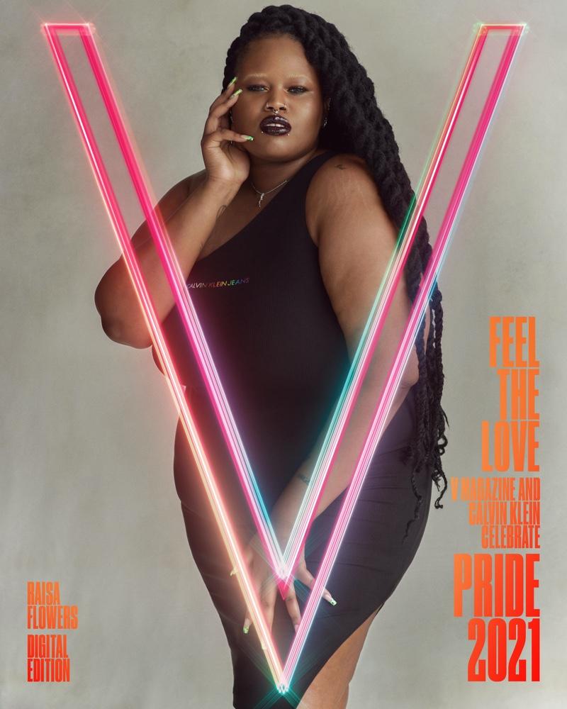 Raisa Flowers on V Magazine Pride Digital 2021 Cover.