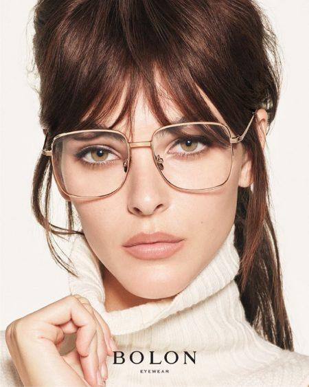 Model Vittoria Ceretti wears square frames in Bolon Eyewear summer 2021 campaign.