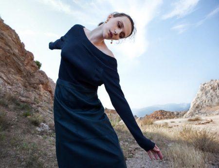Vovk Kristina Captivates Outdoors for Beauté Magazine Greece