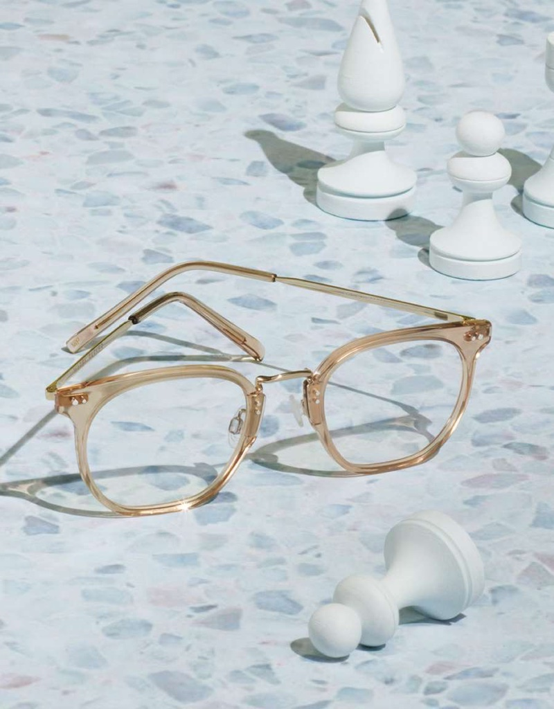 Warby Parker Halton Glasses in Nutmeg Crystal with Riesling $145
