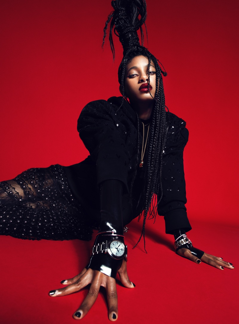 Willow Smith poses in bold fashions for the cover story.