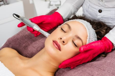 Woman Mesotherapy Microneedling Beauty