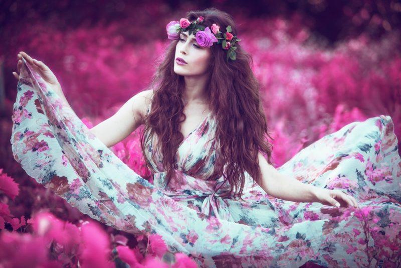 Woman Printed Floral Dress
