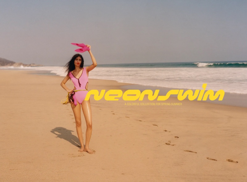 Zara unveils Neon Swim editorial.