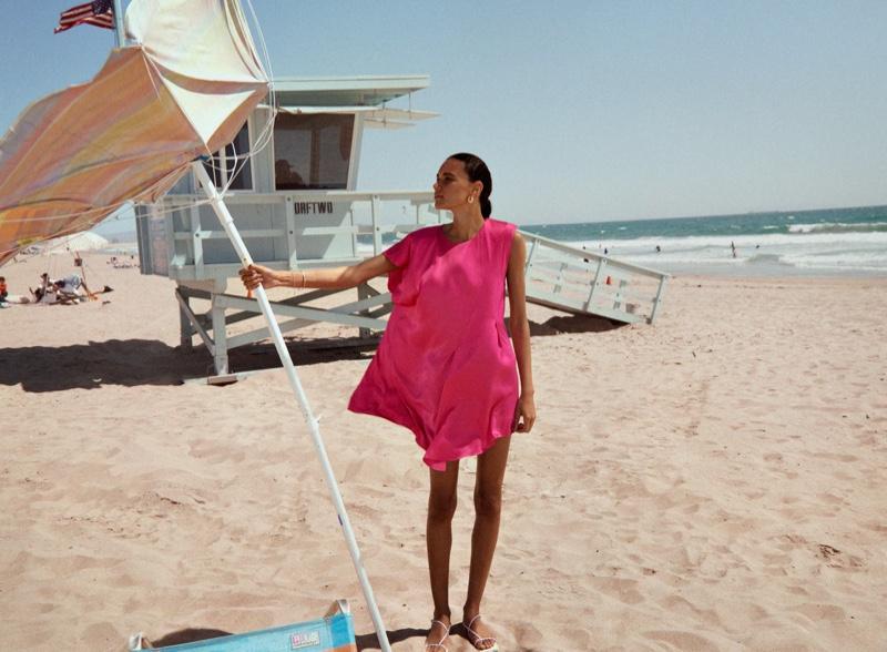 Zara Limited Edition Satin Effect Dress